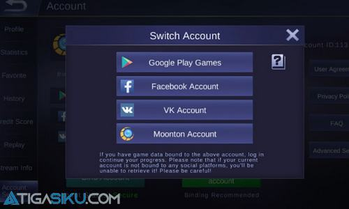 Login To The Existing Account