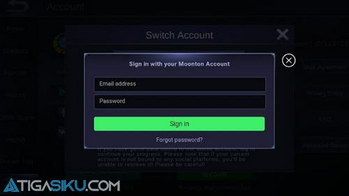 Moonton Account