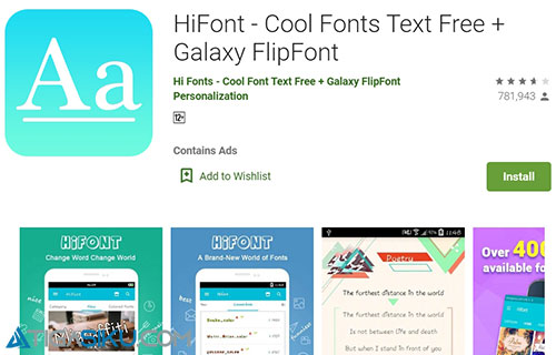 Cara Ganti Font Oppo A7 Pakai HiFont