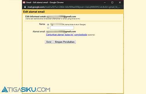 Cara Ganti Nama Gmail Lewat PC