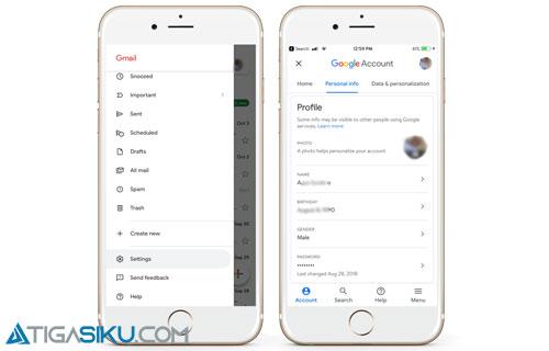Cara Mengganti Nama Gmail Lewat Smartphone