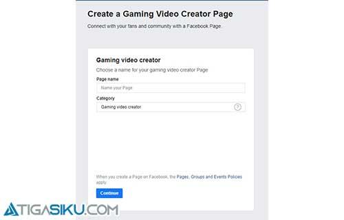 Facebook Gaming Creator Page