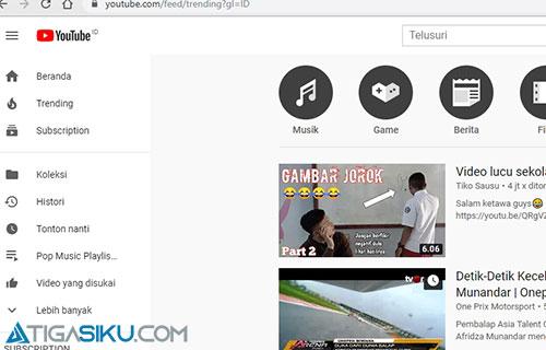 Cara Mengubah Trending Youtube Negara Terbaru