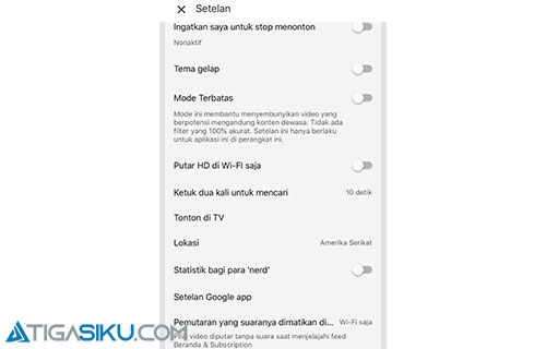 Cara Ubah Trending Youtube di Smartphone Android atau iPhone