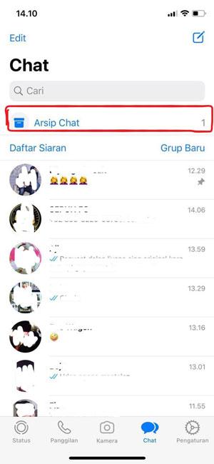 Arsip Pesan WA iOS 2
