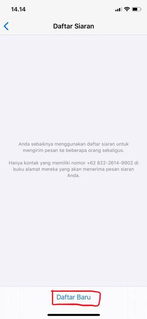 Broadcast Pesan WA iOS Langkah 3