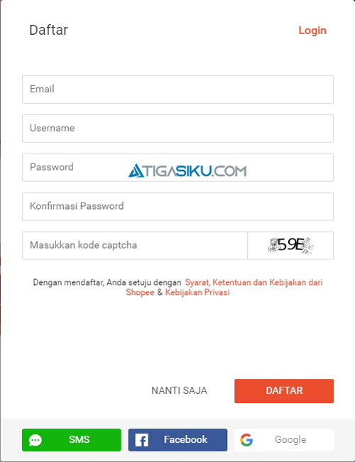 Daftar Shopee Seller Center