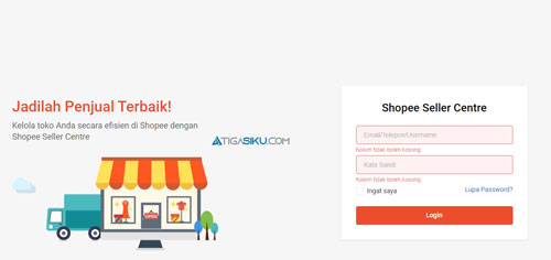 Login Shopee Seller Center