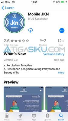 instal aplikasi Mobile JKN
