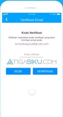 kode verifikasi ke email