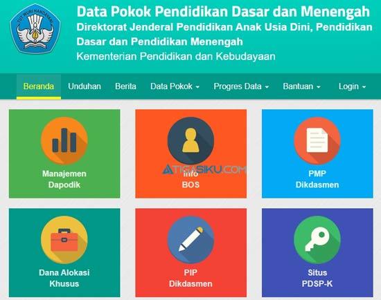 1. Buka Website Dapodik