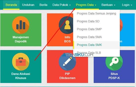 2. Pilih Menu Progres Data