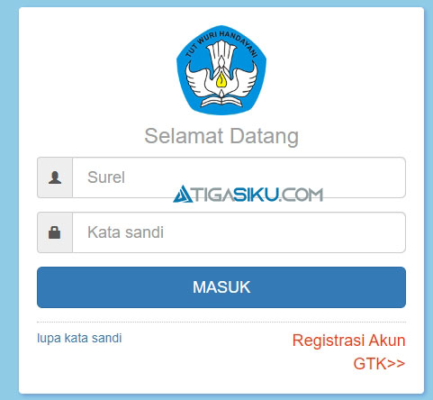 3. Masukkan Username dan Password
