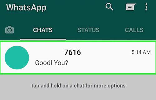Buka chat yang akan di salin