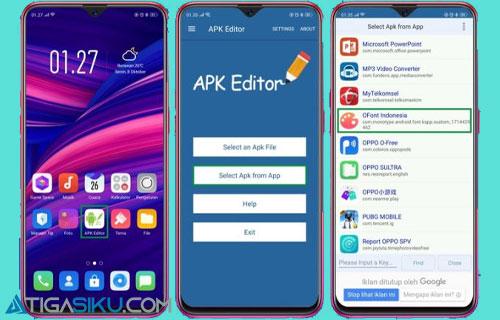 Buka aplikasi APK Editor