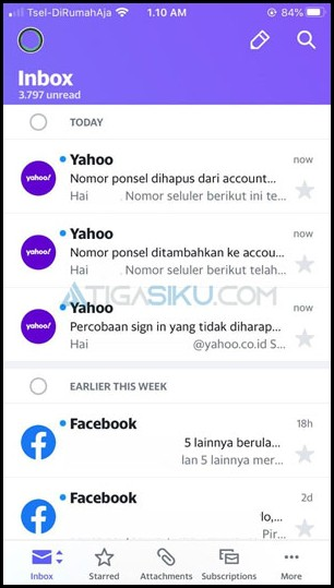 Masuk ke Yahoo Mail 1