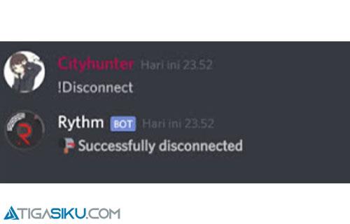 Masukan Command Disconnect