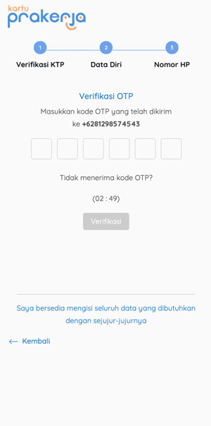 Masukan Kode OTP