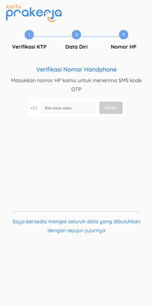 Verifikasi Nomor HP
