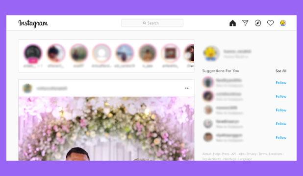Buka Instagram di PC