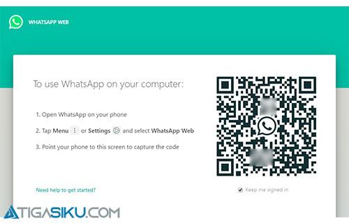 Buka WA Web atau Aplikasi WA PC