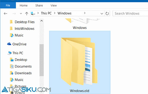 Cara Menghapus Windows Old