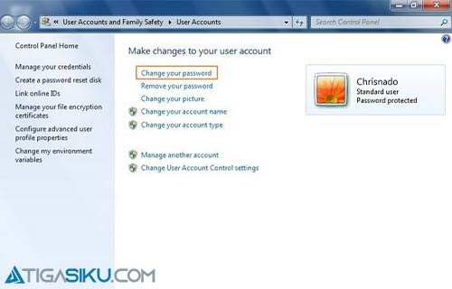 Ganti Password Komputer Windwows XP 7