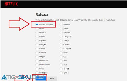 Pilih Bahasa yang Digunakan