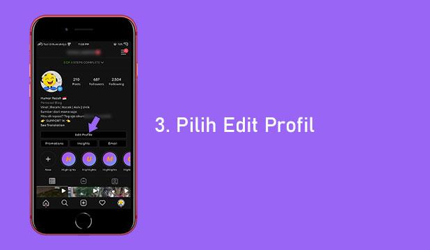 Pilih Edit Profil