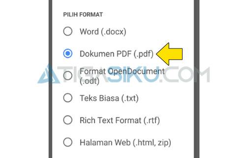 Pilih PDF