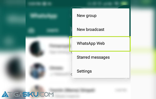 Pilih Whatsapp Web