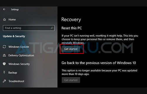 Repair Windows 10 Reset PC