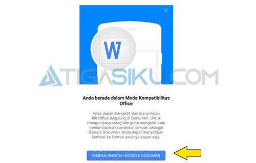 Simpan Sebagai Google Dokumen