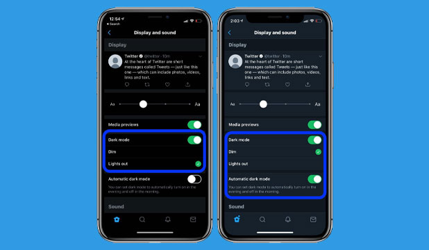 Cara Aktifkan Dark Mode Twitter iOS Device