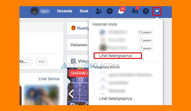 Buka Halaman Fanspage
