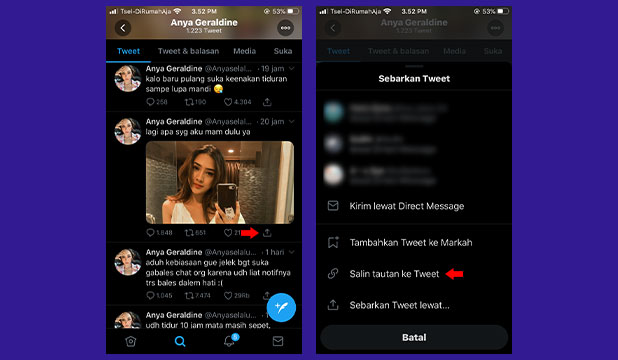 Cara Menyalin Link Twitter iPhone