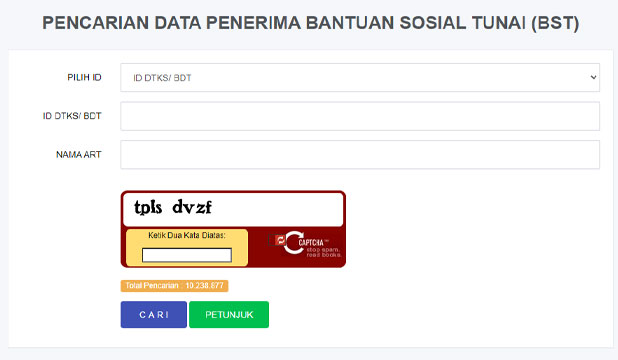 Cara Cek Data Peneriman Bansos Via Website