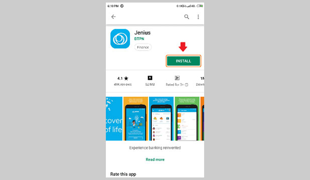 Download dan Instal Aplikasi Jenius