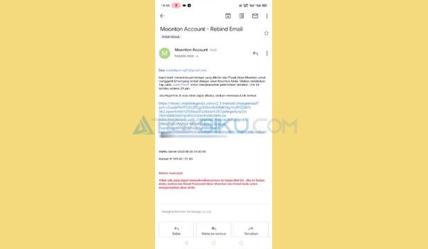 Klik atau Tap Link di Email