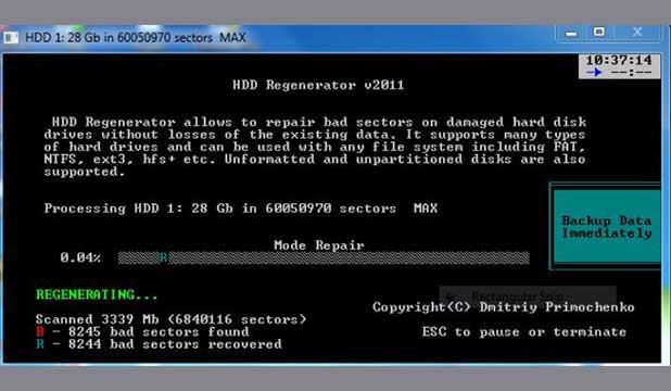 Menggunakan HDD Regenerator