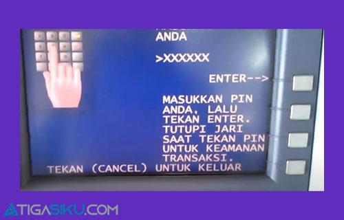 1 Silahkan Masukkan Kartu dan PIN ATM Mandiri