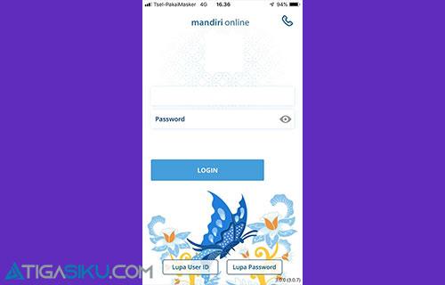 2 Masukkan User ID dan Password Mandiri Online