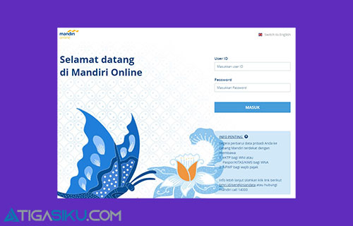 2 Masukkan User ID dan Password