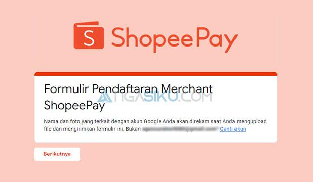 Buka Formulir Pendaftaran Merchant ShopeePay