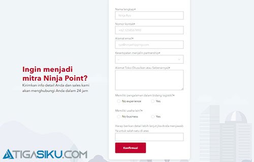Cara Daftar Agen Ninja Express Online