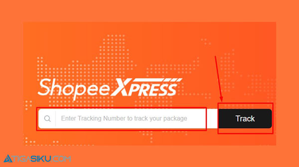 2. Lalu pada kolom Enter Tracking Number to Track Your Package masukkan nomor resi Shopee Express Standard