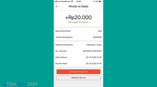 5 kode pembayaran isi saldo Shopeepay lewat Indomaret