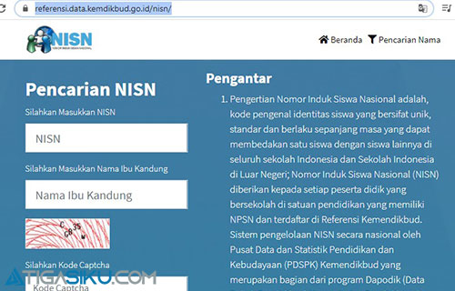 1. Silahkan Kunjungi Website Kemdikbud