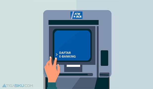Cara Daftar Lewat Mesin ATM