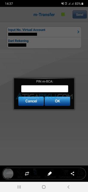 Masukkan PIN M Banking BCA